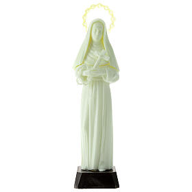 Imagem Santa Rita de Cássia plástico fluorescente 24 cm