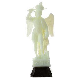 Estatua San Miguel plástico fosforescente victoria 16 cm s1