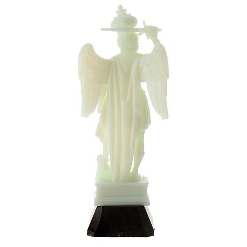 Estatua San Miguel plástico fosforescente victoria 16 cm 4