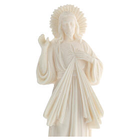Estatua resina Jesús Misericordioso blanca 21 cm s2