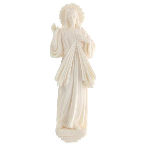 Estatua resina Jesús Misericordioso blanca 21 cm 1