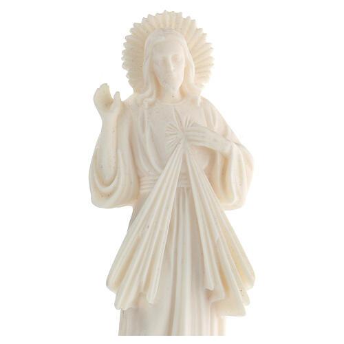 Estatua resina Jesús Misericordioso blanca 21 cm 2