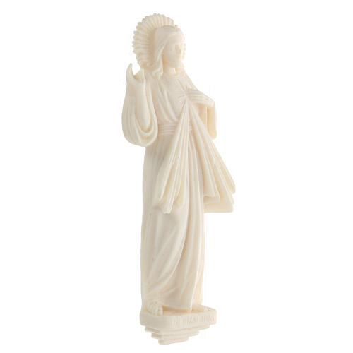 Estatua resina Jesús Misericordioso blanca 21 cm 3