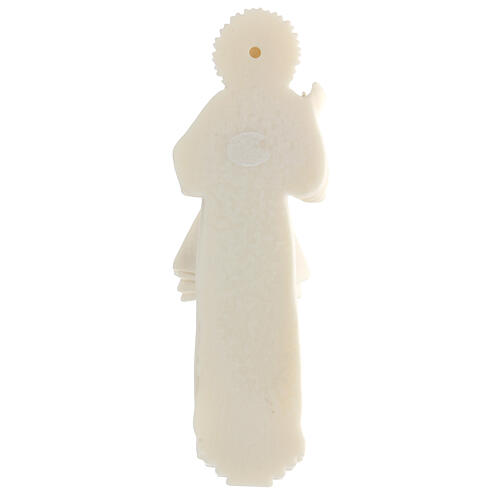 Estatua resina Jesús Misericordioso blanca 21 cm 4