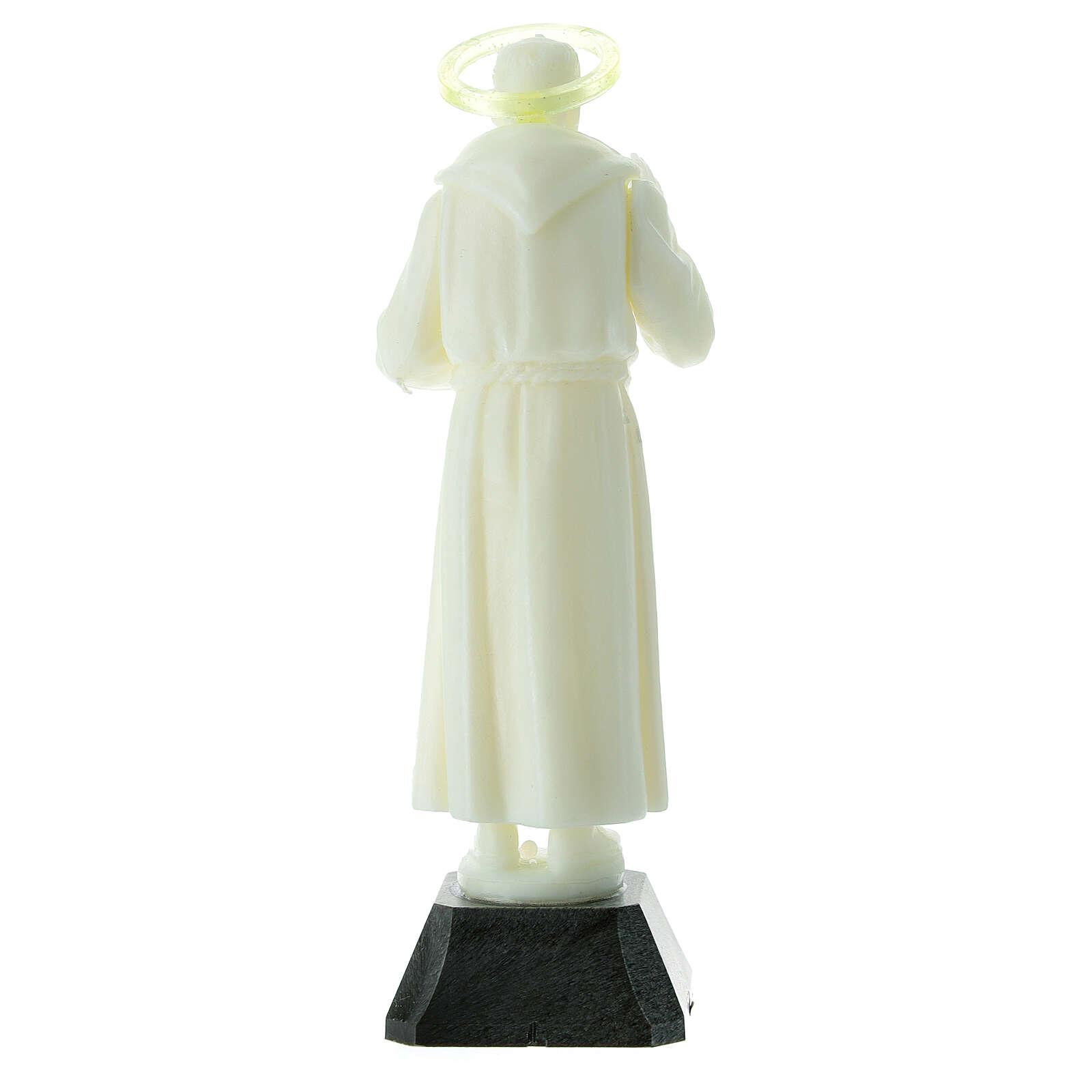 Estatua Padre Pío aureola que se puede quitar 16 cm 4