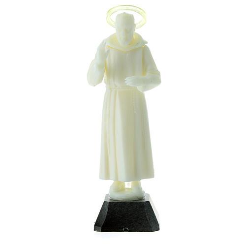 Estatua Padre Pío aureola que se puede quitar 16 cm 1