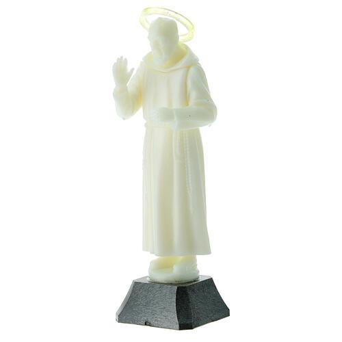 Estatua Padre Pío aureola que se puede quitar 16 cm 2