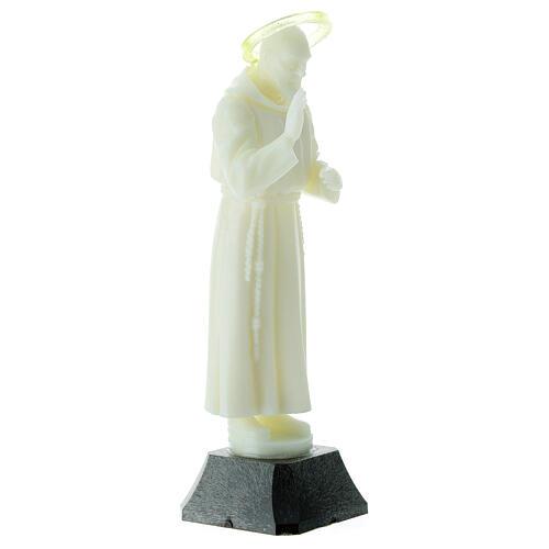 Estatua Padre Pío aureola que se puede quitar 16 cm 3
