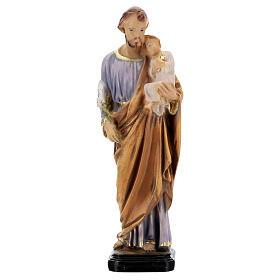 Estatua San José pintada a mano resina 16 cm s1