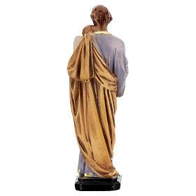 Estatua San José pintada a mano resina 16 cm s4