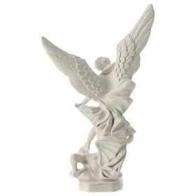 Estatua resina Arcángel San Miguel Lucifer derrotado 21 cm s4