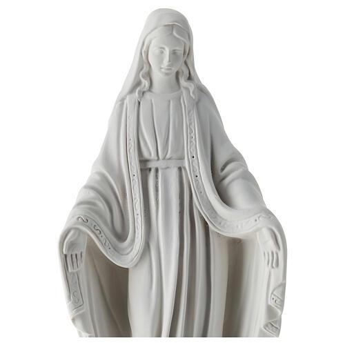 Estatua Virgen Milagrosa resina blanca 30 cm 2