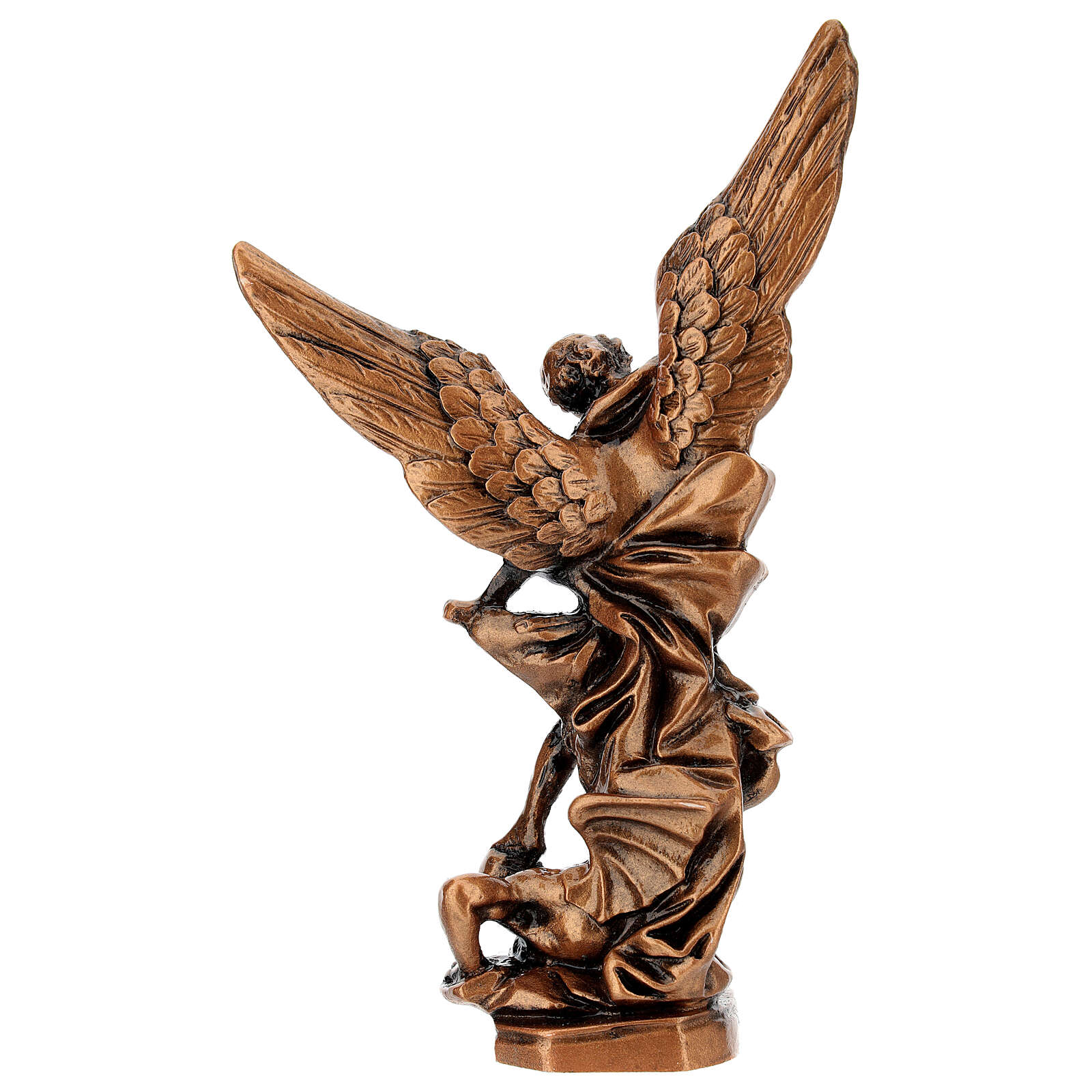 Estatua color bronce resina Arcángel Miguel 21 cm 4