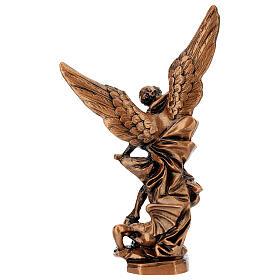Estatua color bronce resina Arcángel Miguel 21 cm s5