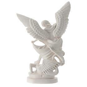 Estatua Arcángel Miguel resina blanca 28 cm s5