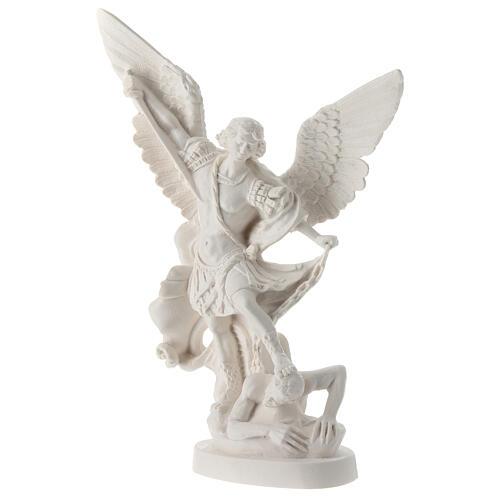 Estatua Arcángel Miguel resina blanca 28 cm 3