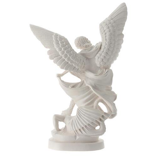 Estatua Arcángel Miguel resina blanca 28 cm 5