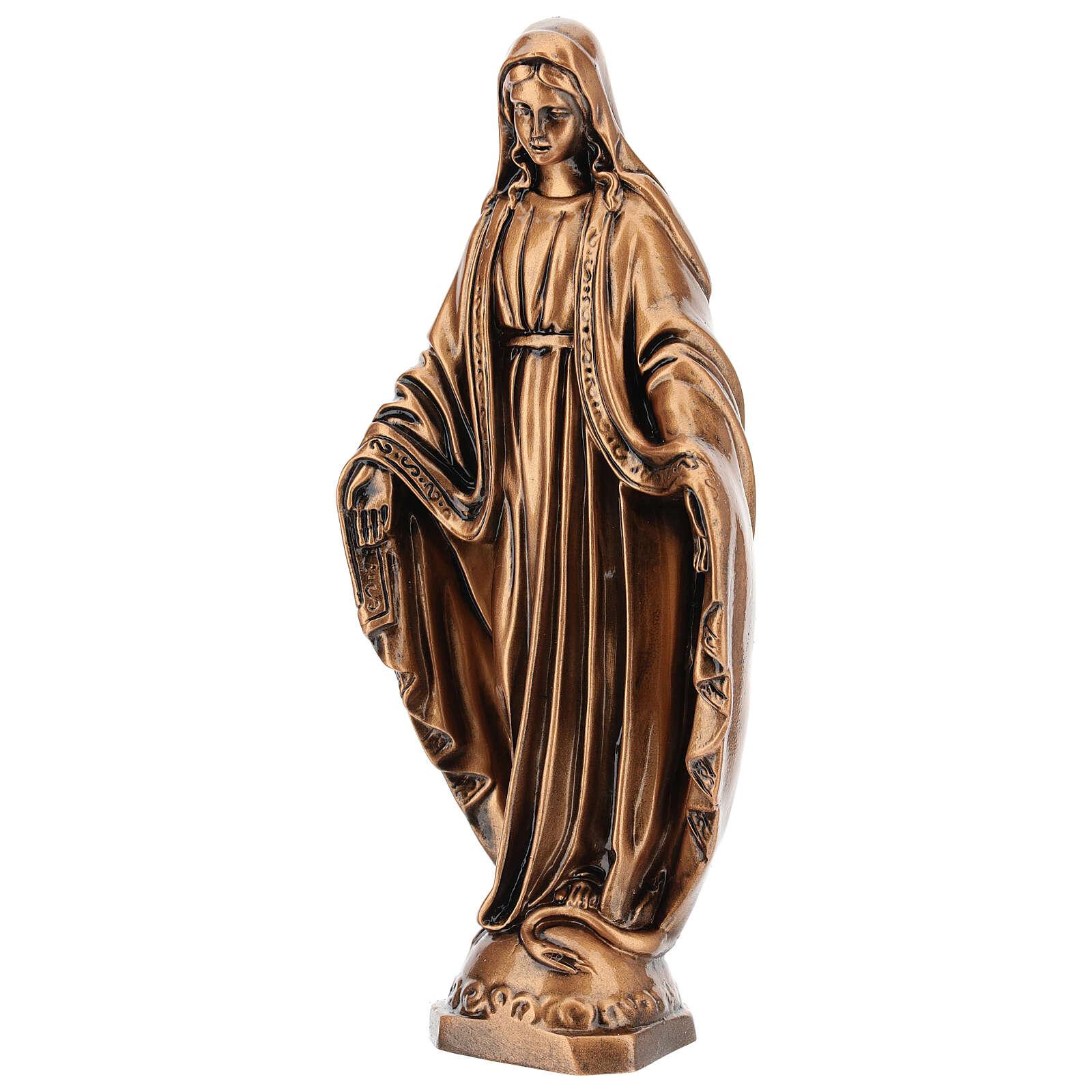 Estatua resina bronce Virgen Milagrosa base 30 cm 4