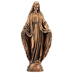 Estatua resina bronce Virgen Milagrosa base 30 cm s1