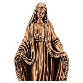 Estatua resina bronce Virgen Milagrosa base 30 cm s2