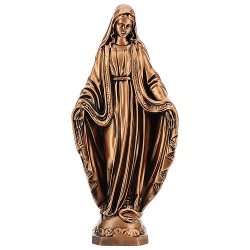 Estatua resina bronce Virgen Milagrosa base 30 cm 1