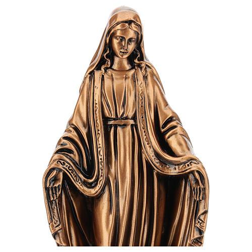 Estatua resina bronce Virgen Milagrosa base 30 cm 2
