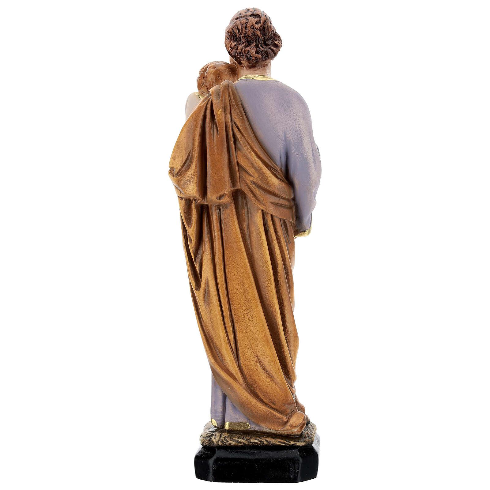 Estatua resina San José Jesús niño resina 30 cm 4