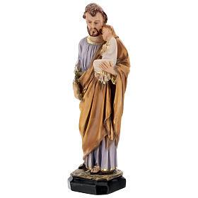 Estatua resina San José Jesús niño resina 30 cm s3