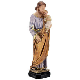 Estatua resina San José Jesús niño resina 30 cm s4
