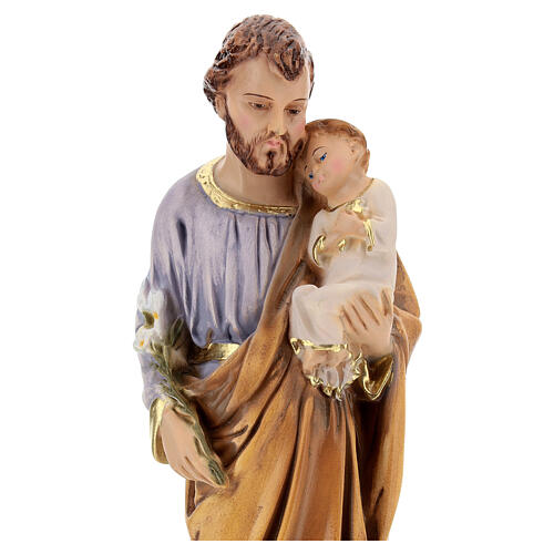 Estatua resina San José Jesús niño resina 30 cm 2
