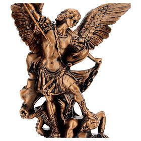 Estatua resina color bronce San Miguel Arcángel 30 cm s2