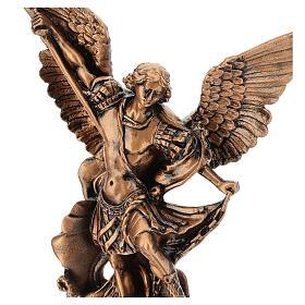 Estatua resina color bronce San Miguel Arcángel 30 cm s4