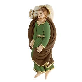 Estatua San José que duerme resina detalles dorados13,5 cm s2