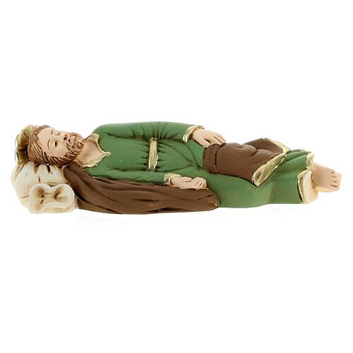 Estatua San José que duerme resina detalles dorados13,5 cm 1