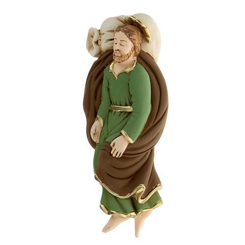Estatua San José que duerme resina detalles dorados13,5 cm 2