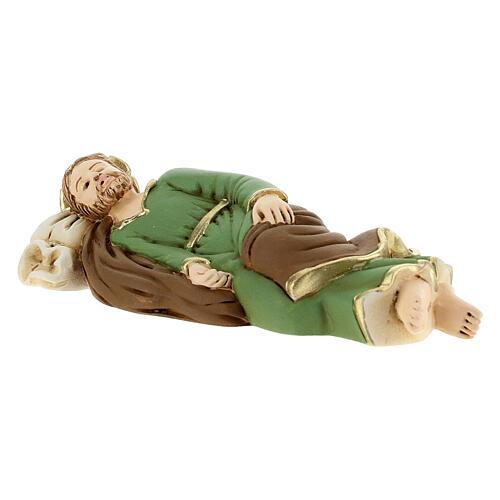 Estatua San José que duerme resina detalles dorados13,5 cm 3