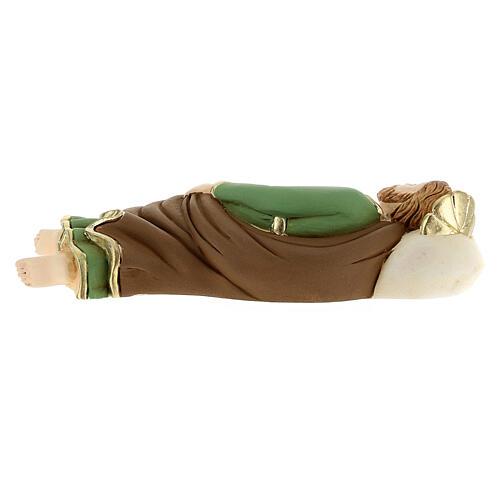 Estatua San José que duerme resina detalles dorados13,5 cm 5
