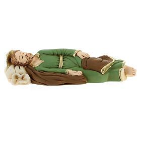 Statua San Giuseppe dormiente resina particolari dorati 13,5 cm