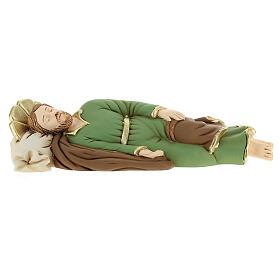 Statua resina San Giuseppe dormiente 23 cm
