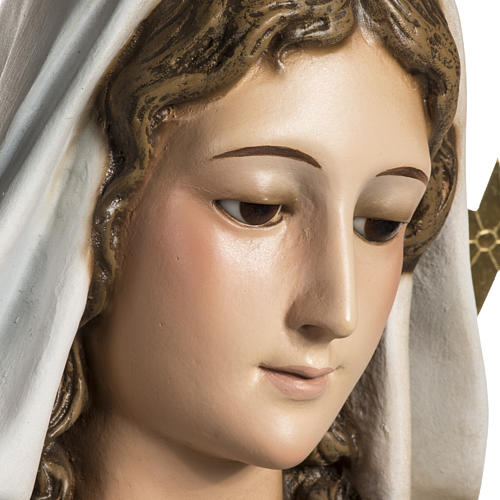 Our Lady of Miracles statue in wood paste, Crystal eyes, 100 cm 16