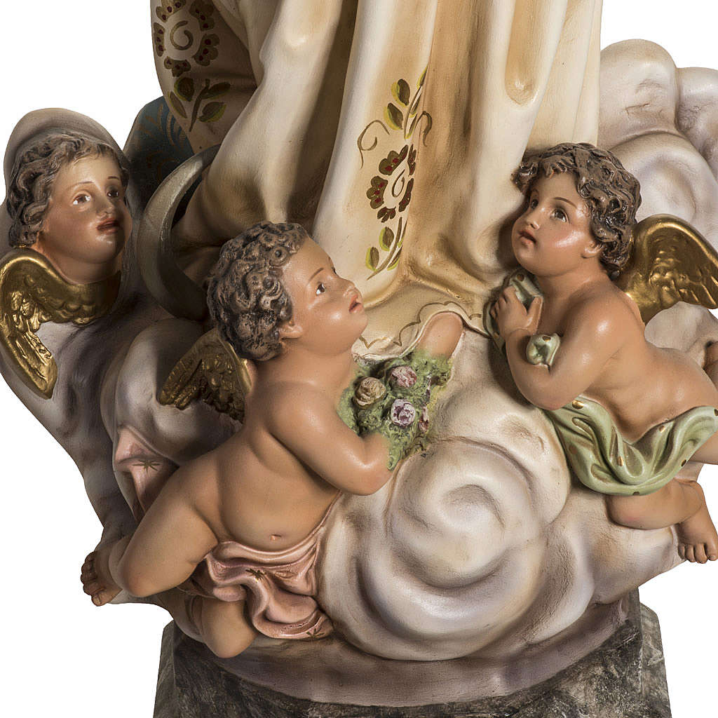 Immaculate Statue in wood paste with crystal eyes, 80 cm 4