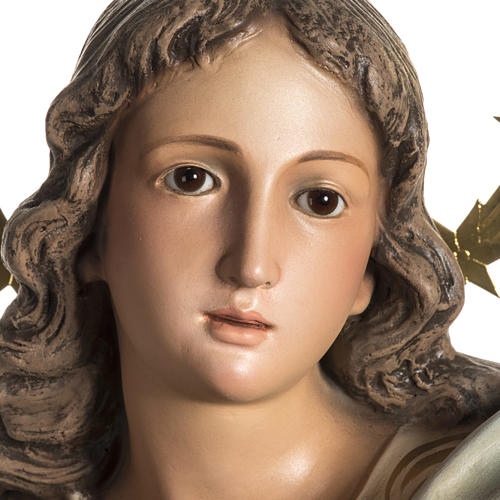 Immaculate Statue in wood paste with crystal eyes, 80 cm 10