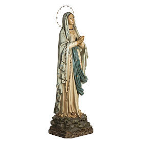 Our Lady of Lourdes Statue in wood paste, crystal eyes, 120 cm s2