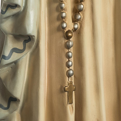 Our Lady of Lourdes Statue in wood paste, crystal eyes, 120 cm 5