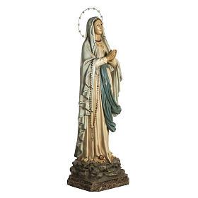 Nuestra Señora de Lourdes 120 cm. pasta de madera ojos cristal