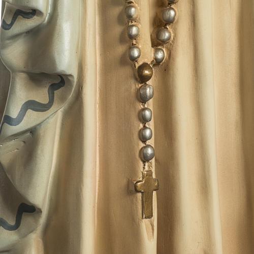 Notre Dame de Lourdes pâte à bois yeux en cristal 5