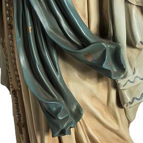 Madonna Lourdes 120 cm pasta legno occhi cristallo dec. elegante s8
