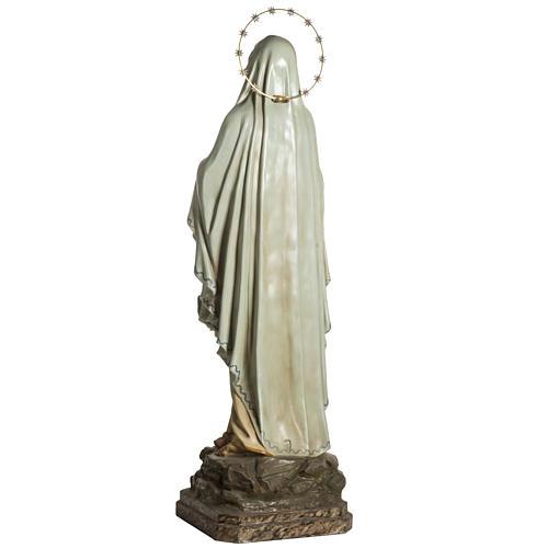 Madonna Lourdes 120 cm pasta legno occhi cristallo dec. elegante 9