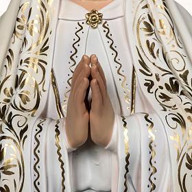 Notre Dame de Fatima 120cm avec bergers pâte à bois s3