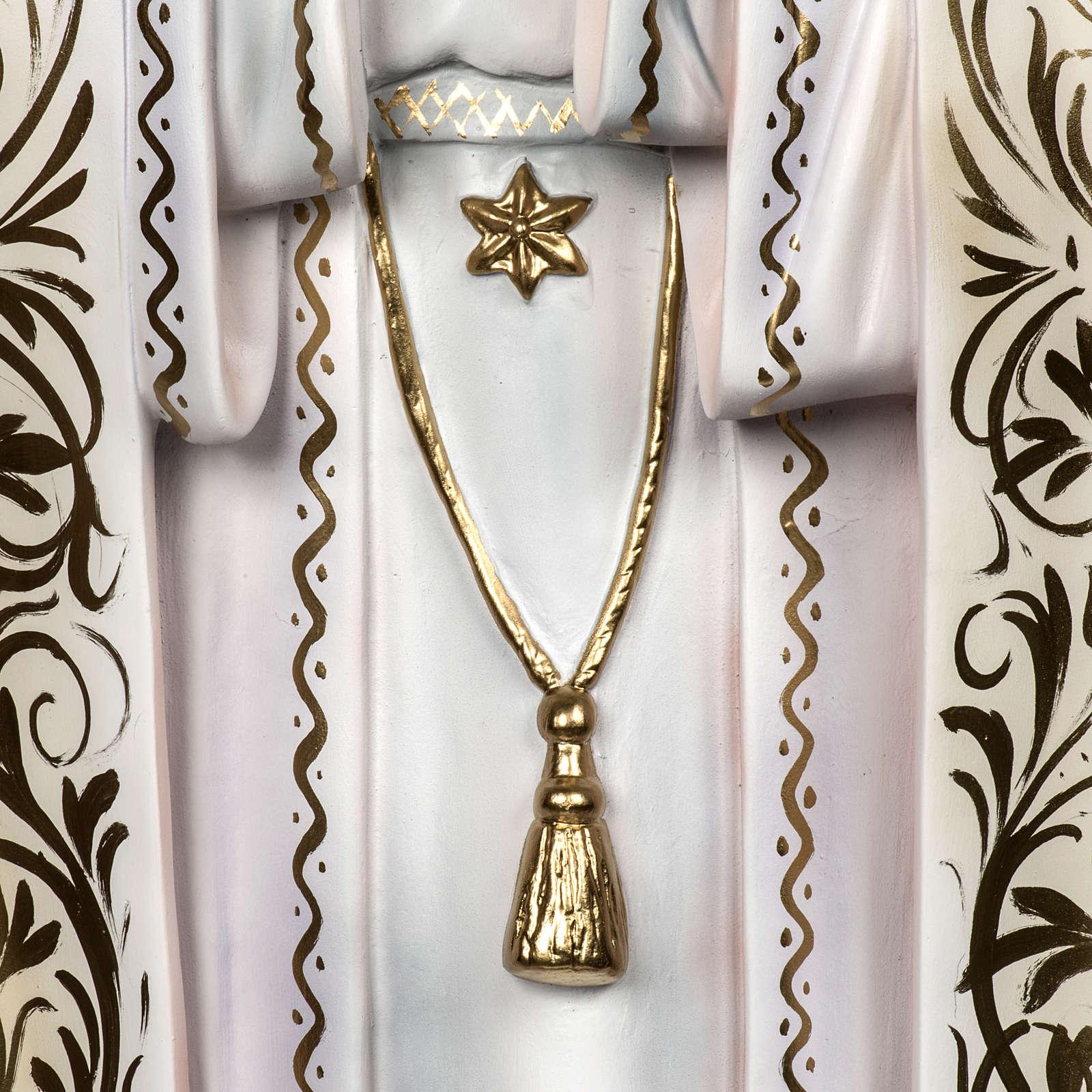 Madonna di Fatima 120 cm pastorelli pasta di legno dec. elegante 4
